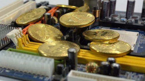 Монетка Биткоин