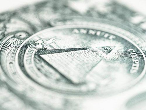 Пирамидка на долларе