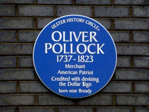 Табличка в честь Оливера Поллока