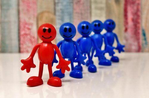 Красный и синие человечки