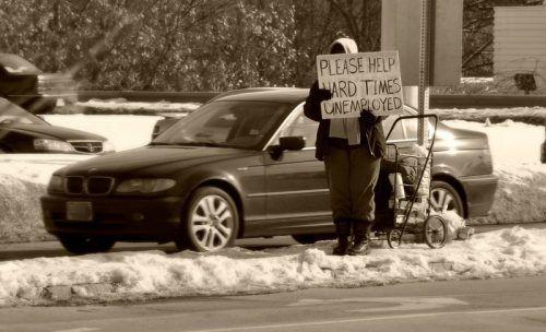 Безработный на улице