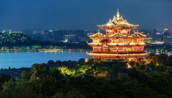 Китай ночью